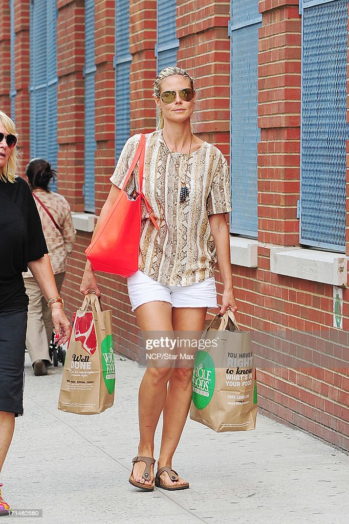 Heidi Klum is seen on June 24, 2013 in New York City.