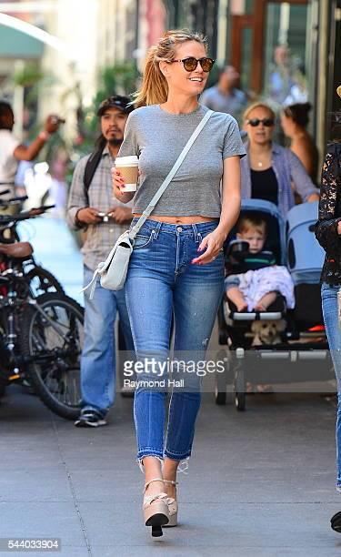 Heidi Klum is seen walking in Soho on June 30 2016 in New York City