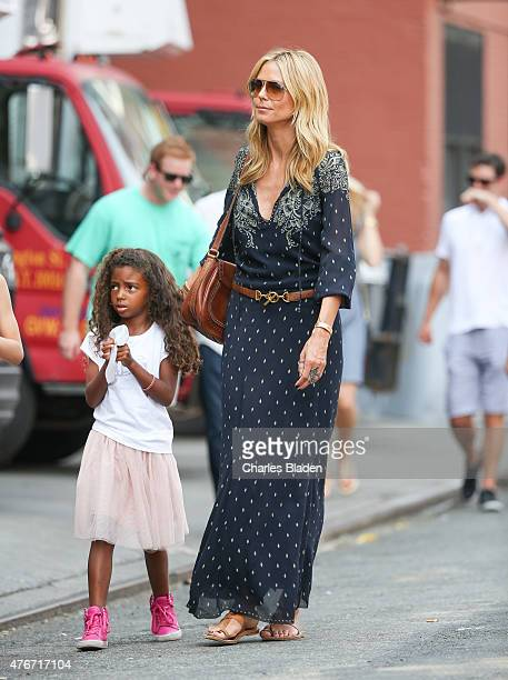 Heidi Klum is seen with her daughter Lou Samuel on June 11 2015 in New York City
