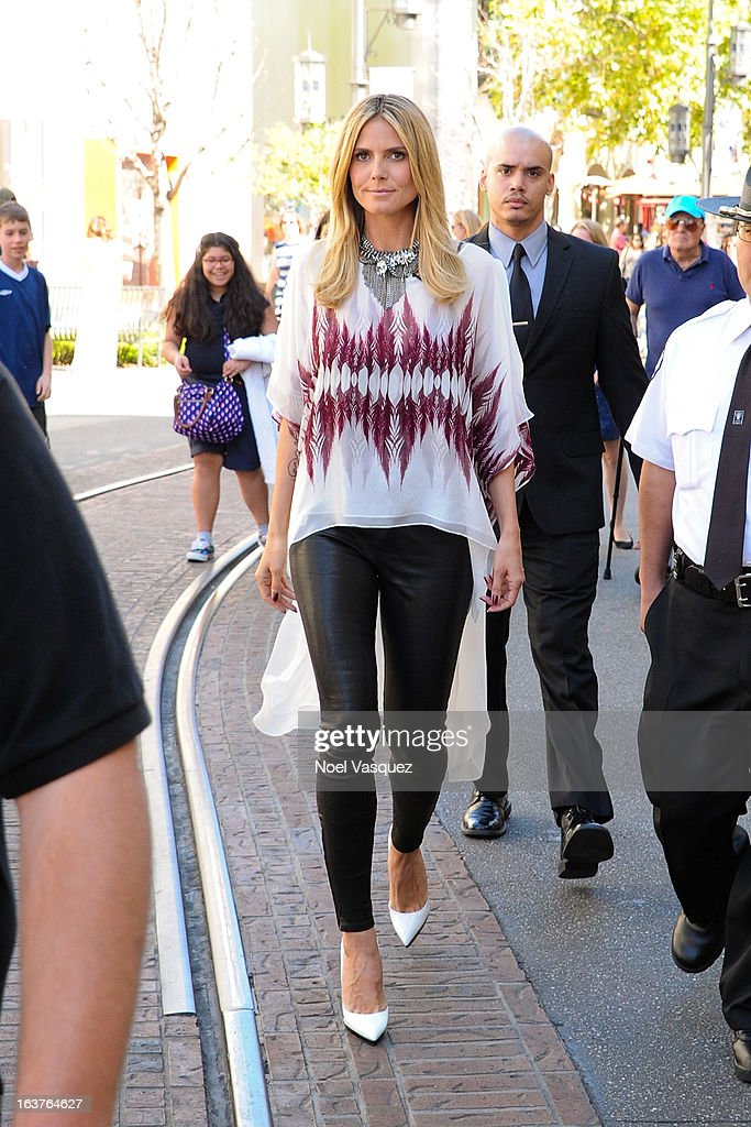 <a gi-track='captionPersonalityLinkClicked' href=/galleries/search?phrase=Heidi+Klum&family=editorial&specificpeople=178954 ng-click='$event.stopPropagation()'>Heidi Klum</a> is sighted at the Grove on March 14, 2013 in Los Angeles, California.