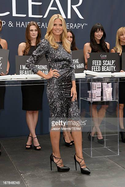 Heidi Klum kicks off the 'Right End' Hair Revolution at The Grove on May 1 2013 in Los Angeles California