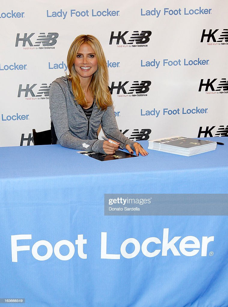 Heidi Klum launches her new Heidi Klum for New Balance Collection at Lady Foot Locker on March 14, 2013 in Culver City, California.