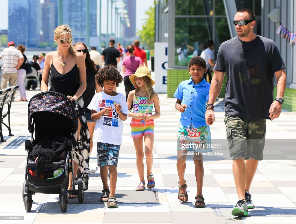 <a gi-track='captionPersonalityLinkClicked' href=/galleries/search?phrase=Heidi+Klum&family=editorial&specificpeople=178954 ng-click='$event.stopPropagation()'>Heidi Klum</a>, <a gi-track='captionPersonalityLinkClicked' href=/galleries/search?phrase=Martin+Kristen&family=editorial&specificpeople=9722821 ng-click='$event.stopPropagation()'>Martin Kristen</a>, Helene Boshoven Samuel, <a gi-track='captionPersonalityLinkClicked' href=/galleries/search?phrase=Henry+Samuel&family=editorial&specificpeople=3216044 ng-click='$event.stopPropagation()'>Henry Samuel</a>, <a gi-track='captionPersonalityLinkClicked' href=/galleries/search?phrase=Johan+Samuel&family=editorial&specificpeople=4543408 ng-click='$event.stopPropagation()'>Johan Samuel</a> and Lou Sulola Samuel are seen on June 20, 2013 in New York City.