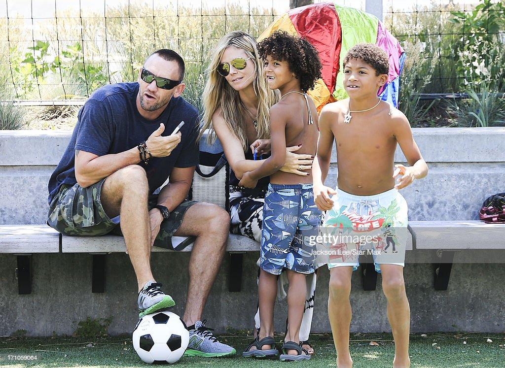 Heidi Klum, Martin Kristen, Henry Samuel and Johan Samuel aare seen on June 20, 2013 in New York City.