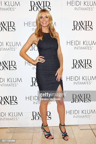 Heidi Klum poses at a Heidi Klum Intimates Breakfast on January 28 2016 in Sydney Australia