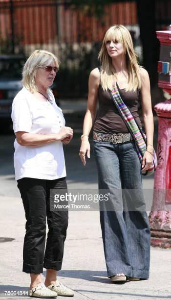 Heidi Klum right and mother Erna