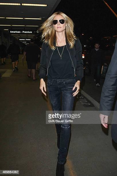 Heidi Klum seen at LAX on April 15 2015 in Los Angeles California