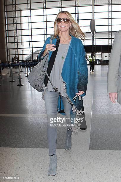 Heidi Klum seen at LAX on April 23 2015 in Los Angeles California