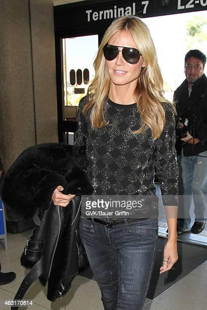 Heidi Klum seen at LAX on February 10 2015 in Los Angeles California