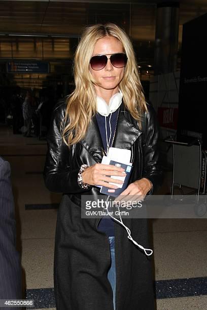 Heidi Klum seen at LAX on January 30 2015 in Los Angeles California