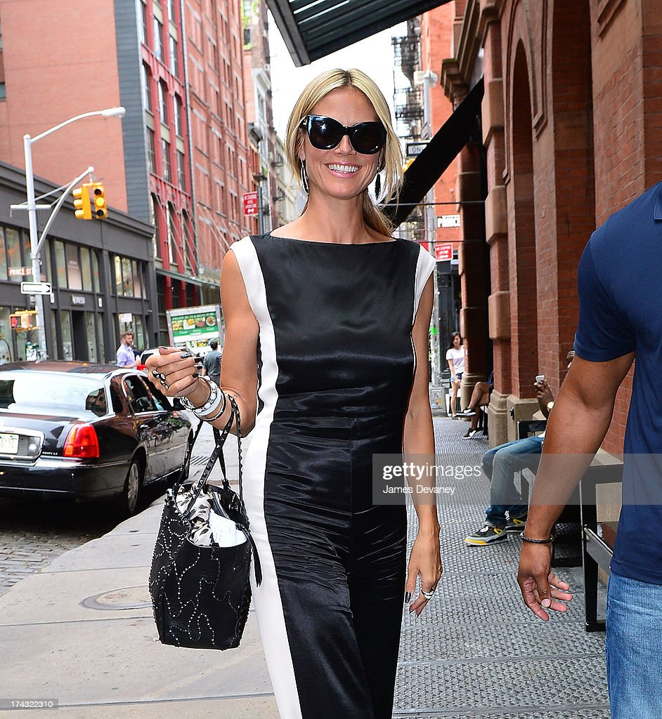 Heidi Klum seen on the streets of Manhattan on July 23, 2013 in New York City.
