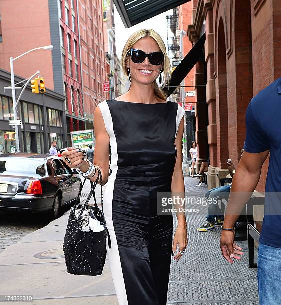 Heidi Klum seen on the streets of Manhattan on July 23 2013 in New York City