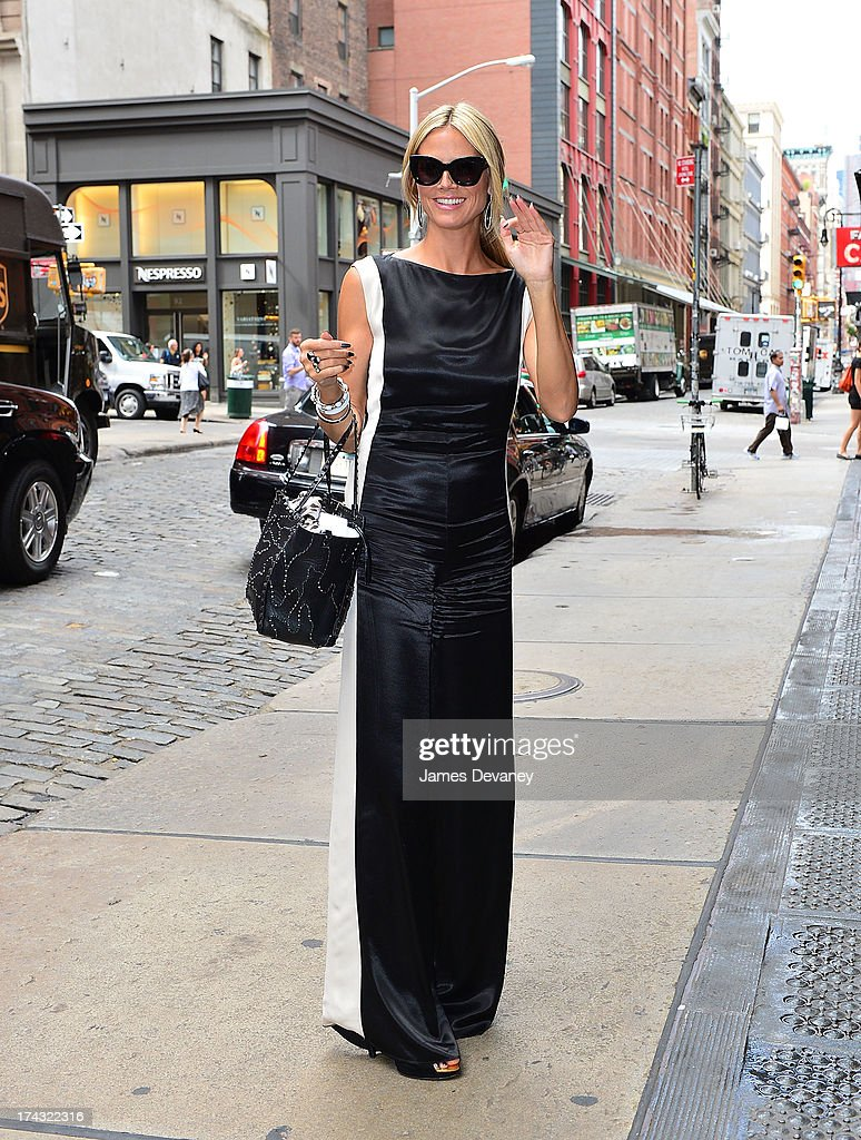 Heidi Klum seen on the streets of Manhattan on July 23, 2013 in New York City.