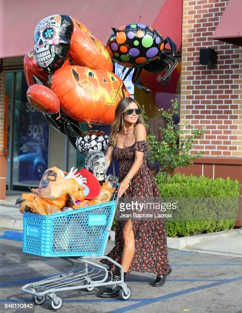 Heidi Klum shops at Party City Los Angeles on September 11 2017 in Los Angeles California