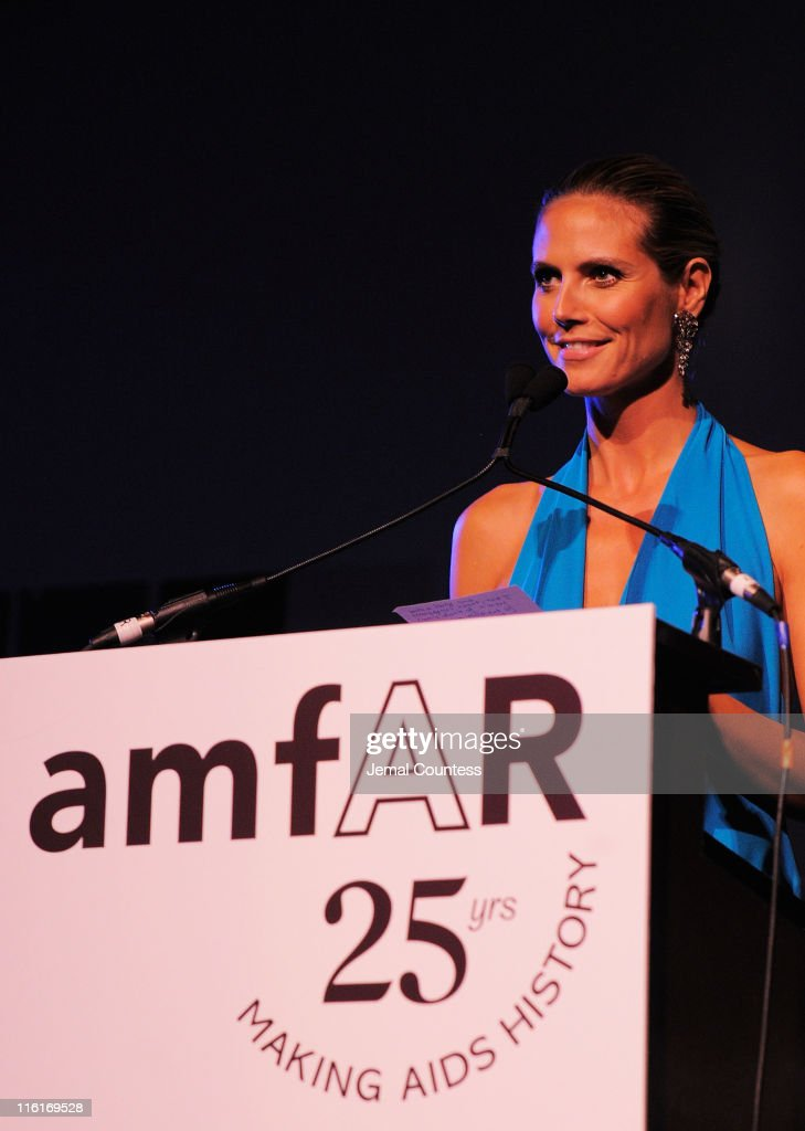 <a gi-track='captionPersonalityLinkClicked' href=/galleries/search?phrase=Heidi+Klum&family=editorial&specificpeople=178954 ng-click='$event.stopPropagation()'>Heidi Klum</a> speaks on stage during the 2nd Annual amfAR Inspiration Gala at The Museum of Modern Art on June 14, 2011 in New York City.