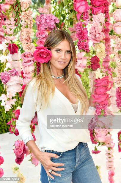 Heidi Klum Unveils Latest Heidi Klum Intimates Campaign at Bra Brunch in Los Angeles at Hotel BelAir on August 17 2017 in Los Angeles California