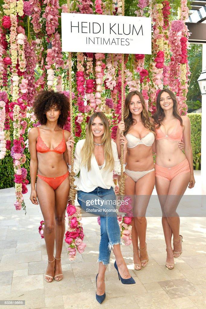 Heidi Klum Unveils Latest Heidi Klum Intimates Campaign at Bra Brunch in Los Angeles at Hotel Bel-Air on August 17, 2017 in Los Angeles, California.