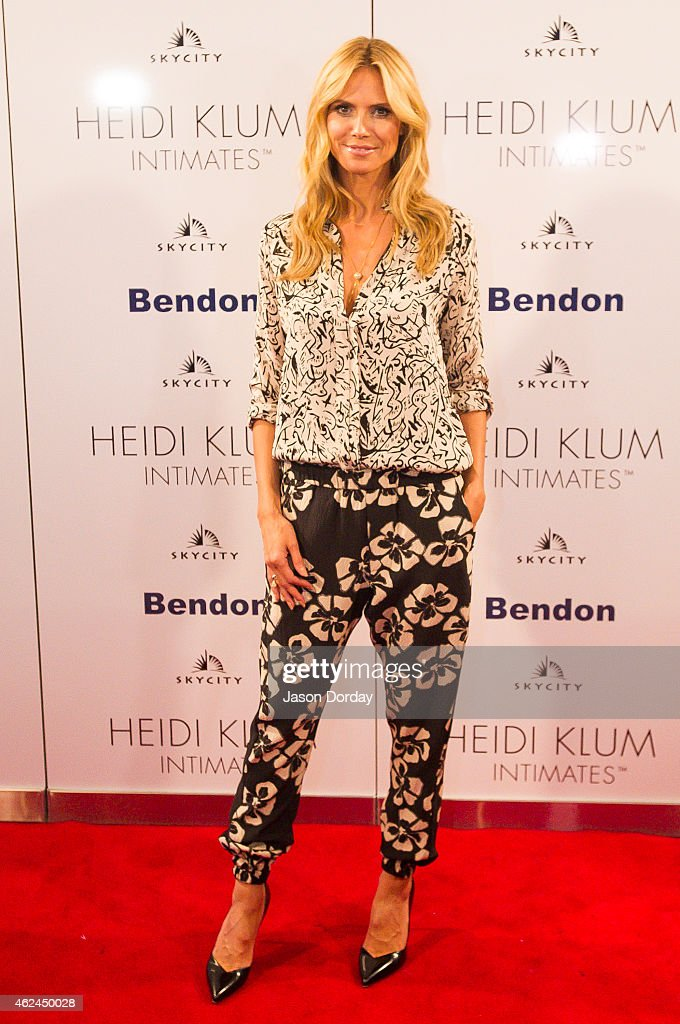 Heidi Klum visits Auckland to launch her Intimates collection at SkyCity Casino on January 29 2015 in Auckland New Zealand