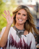 Heidi Klum visits 'Extra' at The Grove on March 14 2013 in Los Angeles California