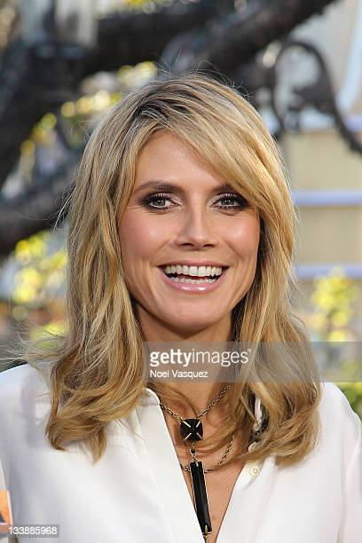 heidi klum mit pony stock fotos und bilder getty images. Black Bedroom Furniture Sets. Home Design Ideas