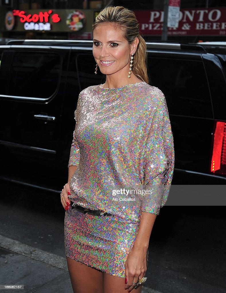 Heidi Klum visits Today Show on April 8, 2013 in New York City.
