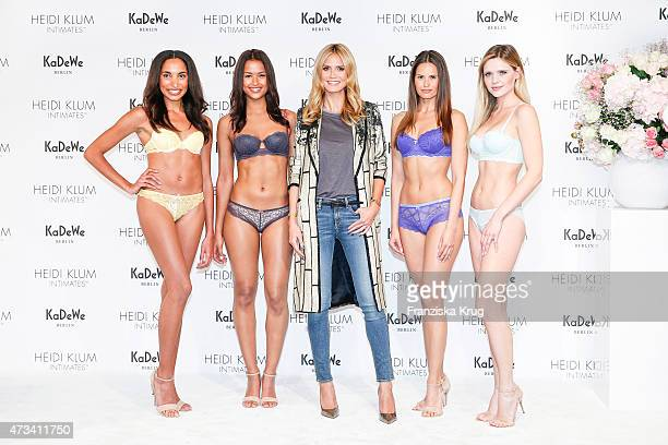 Heidi Klum with models attend the Heidi Klum At KaDeWe on May 15 2015 on Berlin Germany