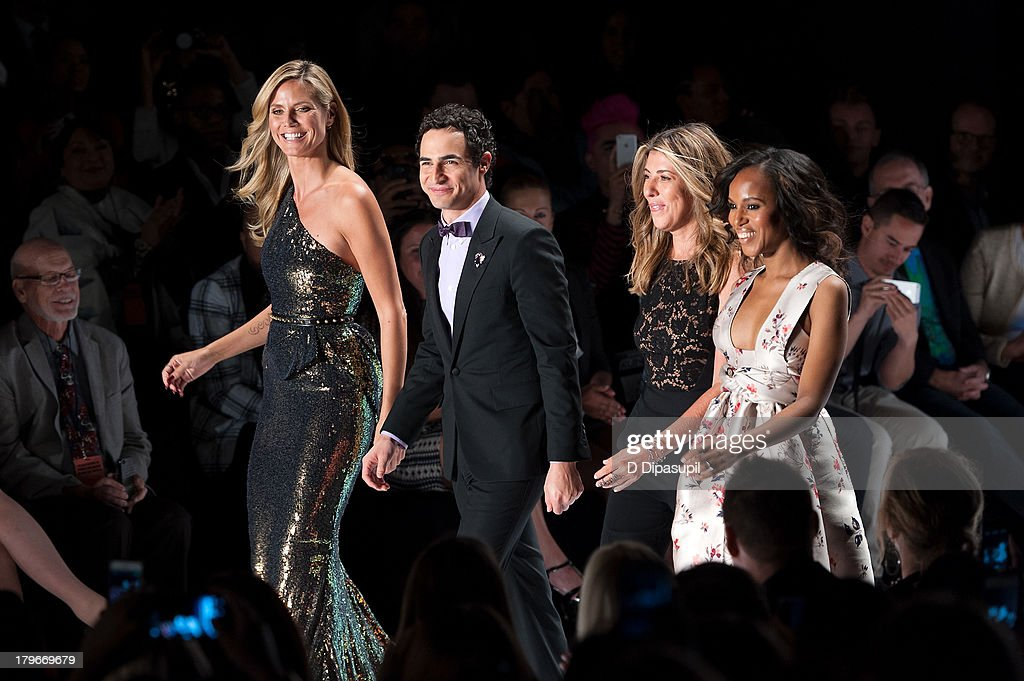 <a gi-track='captionPersonalityLinkClicked' href=/galleries/search?phrase=Heidi+Klum&family=editorial&specificpeople=178954 ng-click='$event.stopPropagation()'>Heidi Klum</a>, Zac Posen, <a gi-track='captionPersonalityLinkClicked' href=/galleries/search?phrase=Nina+Garcia&family=editorial&specificpeople=592222 ng-click='$event.stopPropagation()'>Nina Garcia</a>, and <a gi-track='captionPersonalityLinkClicked' href=/galleries/search?phrase=Kerry+Washington&family=editorial&specificpeople=201534 ng-click='$event.stopPropagation()'>Kerry Washington</a> attend the Project Runway Spring 2014 fashion show at The Theater at Lincoln Center on September 6, 2013 in New York City.