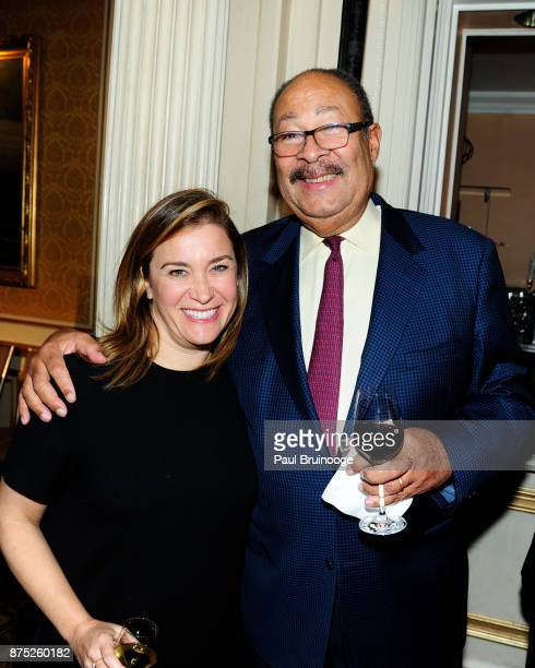 Heidi Messer and Dick Parsons attend the American Folk Art Museum Annual Gala at JW Marriott Essex House on November 16 2017 in New York City