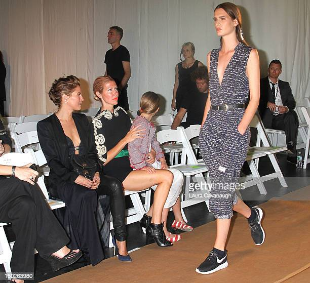 Heidi Middleton attends the Sass Bide fashion show during MercedesBenz Fashion Week Spring 2014 at The Classic Car Club on September 10 2013 in New...