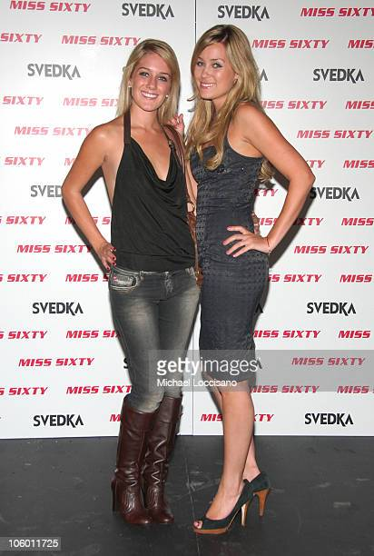 Heidi Montag and Lauren Conrad during Olympus Fashion Week Spring 2007 Miss Sixty After Party at The Soho Grand in New York City New York United...