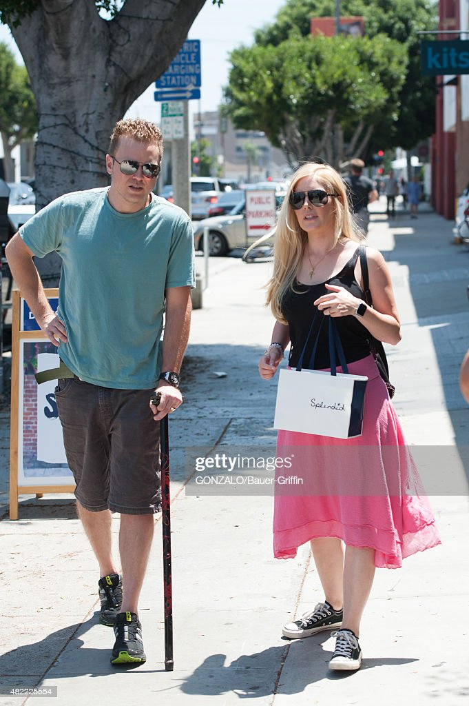 Heidi Montag and Spencer Pratt are seen on July 28 2015 in Los Angeles California