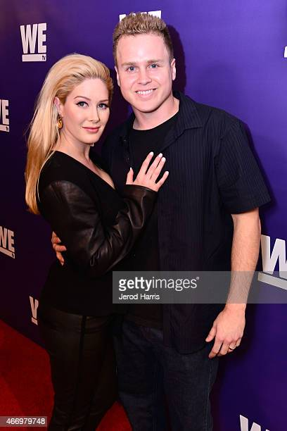 Heidi Montag and Spencer Pratt attend WE Tv Presents The Evolution of Relationship Reality Shows at The Paley Center For Media on March 19 2015 in...