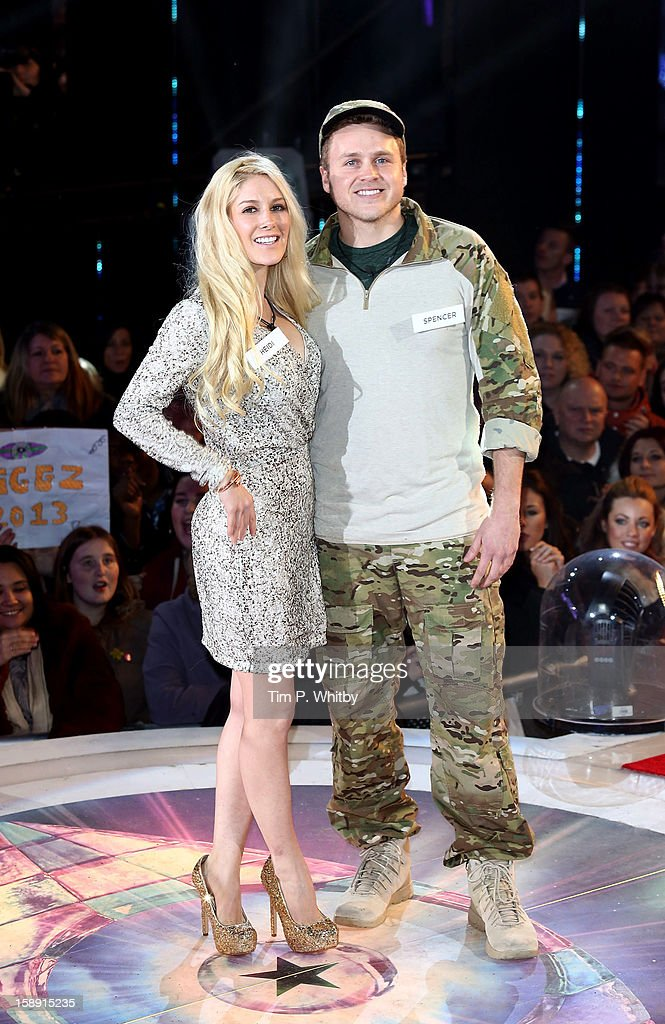 Heidi Montag and Spencer Pratt enter the Celebrity Big Brother House at Elstree Studios on January 3, 2013 in Borehamwood, England.