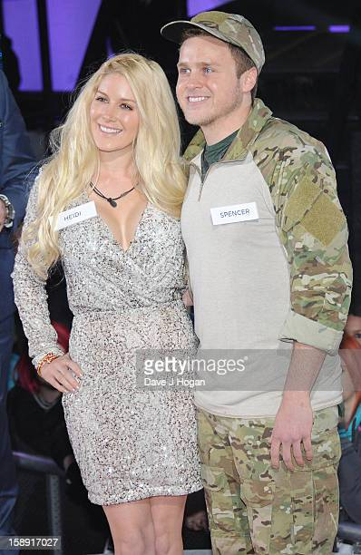 Heidi Montag and Spencer pratt enter the Celebrity Big Brother House at Elstree Studios on January 3 2013 in Borehamwood England