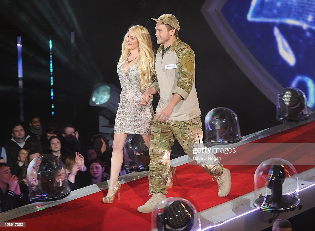 <a gi-track='captionPersonalityLinkClicked' href=/galleries/search?phrase=Heidi+Montag&family=editorial&specificpeople=761509 ng-click='$event.stopPropagation()'>Heidi Montag</a> and Spencer pratt enter the Celebrity Big Brother House at Elstree Studios on January 3, 2013 in Borehamwood, England.