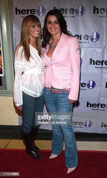 Heidi Mueller and Eva Tamargo during 'HellBent' Los Angeles Premiere at Regent Showcase Theater in Hollywood California United States