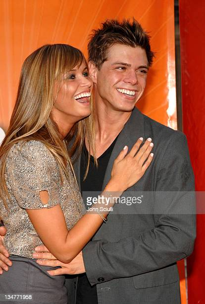 Heidi Mueller and Matthew Lawrence during 2005 NBC Network All Star Celebration Arrivals at Century Club in Los Angeles California United States