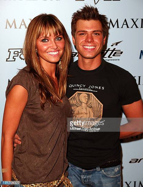 Heidi Mueller and Matthew Lawrence during Maxim Magazine Celebrates The XGames 2005 Party Arrivals at Cabana Club in Hollywood California United...