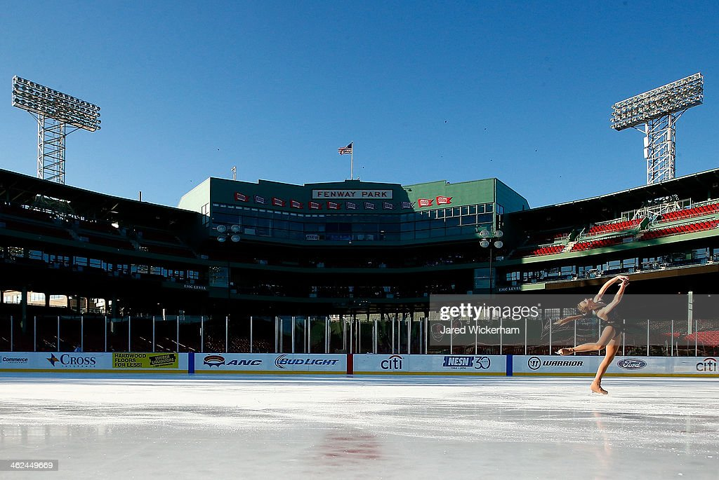 Heidi Munger performs her routine during the figure skating show as part of the Citi Frozen Fenway events at Fenway Park on January 13, 2014 in Boston, Massachusetts.