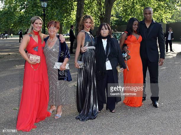 Heidi Range Amelie Berrabah and Keisha Buchanan of SugaBabes arrive at Nelson Mandelas 90th Birthday dinner on June 25 2008 in London