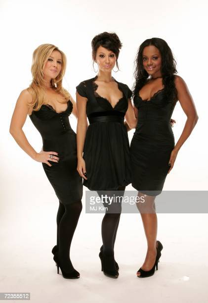 Heidi Range Amelle Berrabah and Keisha Buchanan of Sugababes pose for a portrait in the backstage studio during the 13th annual MTV Europe Music...