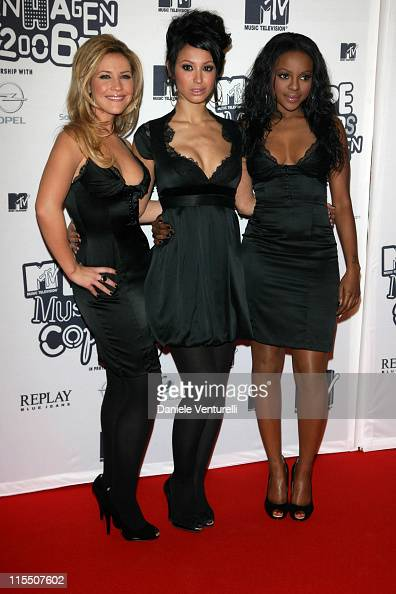 Heidi Range Amelle Berrabah and Keisha Buchanan of the Sugababes