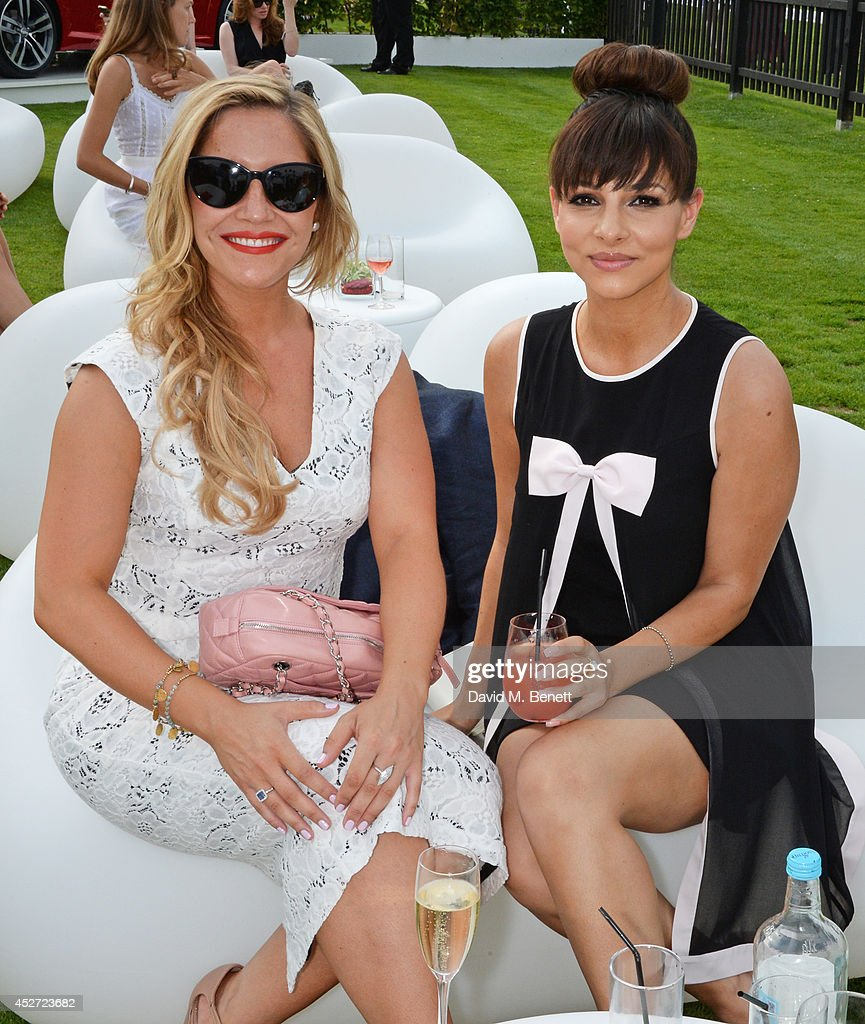 Heidi Range and Roxanne Pallett attend Audi International at Guards Polo Club near Windsor to support England as it faces Argentina for the...