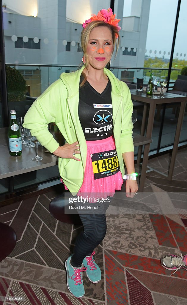 Heidi Range attends the Electric Run at Wembley Park on May 2, 2015 in London, England.