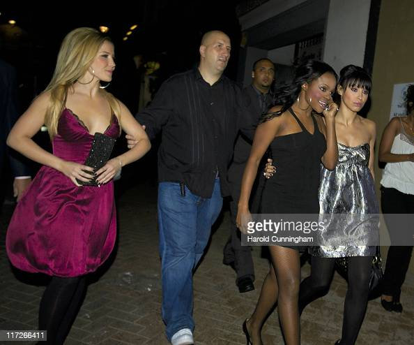 Heidi Range Keisha Buchanan and Amelle Berrabah during Sugababes in Concert October 29 2006 Arrivals at Dominion Theatre in London Great Britain