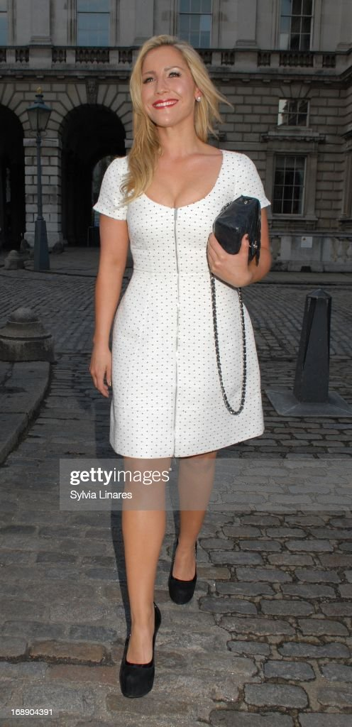 Heidi Range leaving Somerset House on May 16, 2013 in London, England.