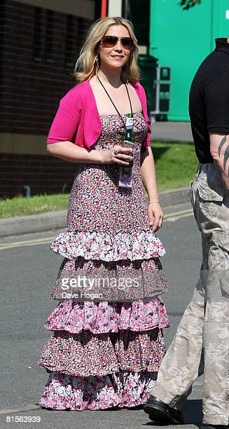 Heidi Range of teh Sugababes backstage during Day 2 of the Isle Of Wight Festival 2008 on June 14 2008 in Newport Isle of Wight England
