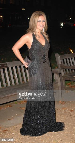 Heidi Range of the Sugababes arrives at the End of Summer Ball in Berkeley Square on September 25 2008 in London England