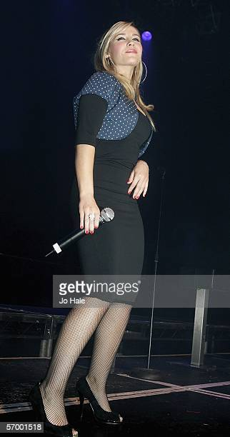 Heidi Range of The Sugababes performs on stage at weekly party night GAY at The Astoria on March 4 2006 in London England