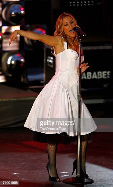 Heidi Range of the Sugababes performs on stage during The Prince's Trust 30th Live concert held at the Tower of London on May 20 2006 in London...
